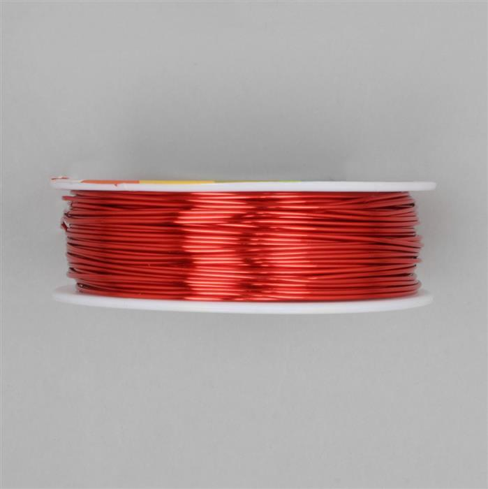 50m Hot Red Coloured Copper Wire Approx 1.0mm