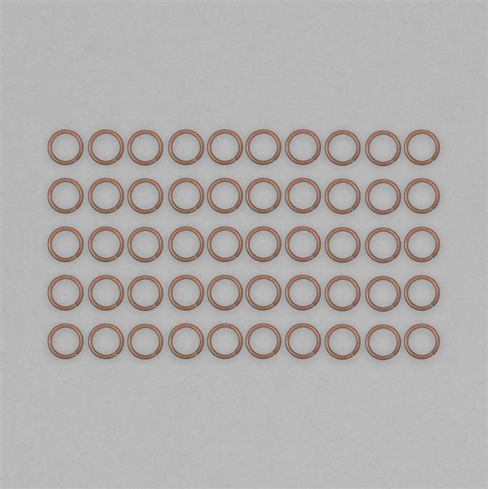 Bare Copper Hollow Open Jump Ring Approx 16mm & Thickness Approx 2mm (50pcs)
