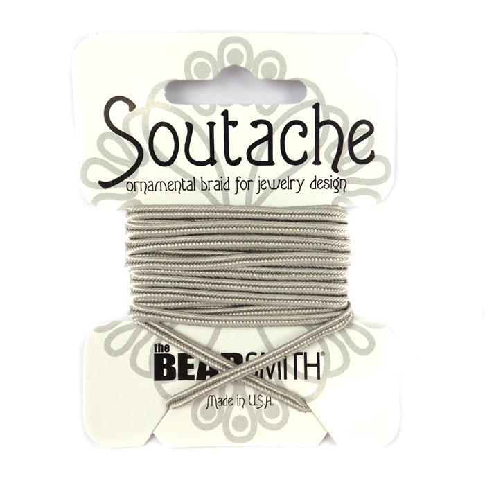 Silver Grey Soutache Cord 3yards 3mm