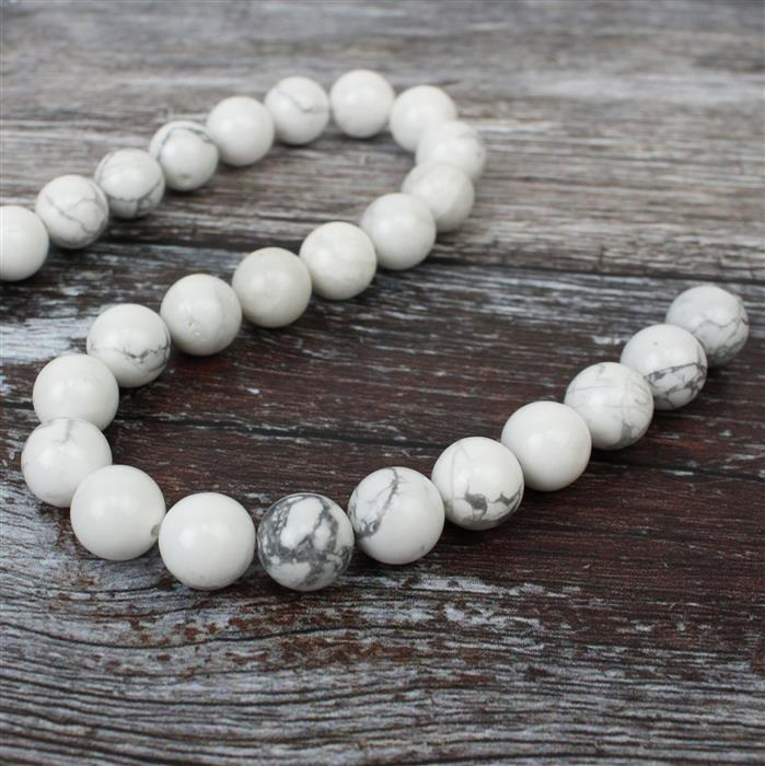 300cts Howlite Plain Rounds Approx 10mm 38cm strand
