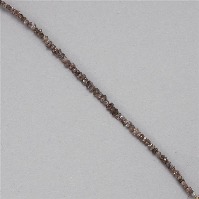 4.30cts Cognac Diamond Small Nuggets Approx 1x1 to 3x1mm, 9cm Strand.