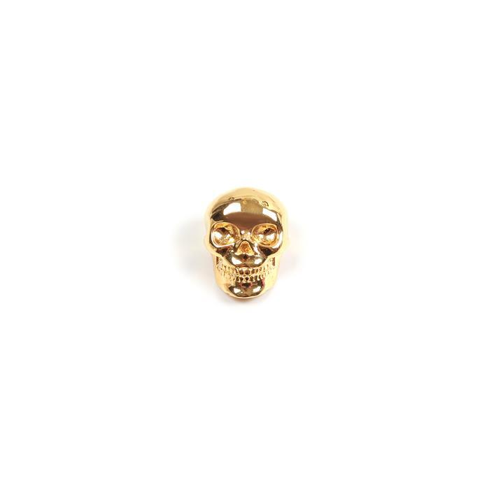 Gold Plated 925 Sterling Silver Slider Bead 14x10mm, 1pk