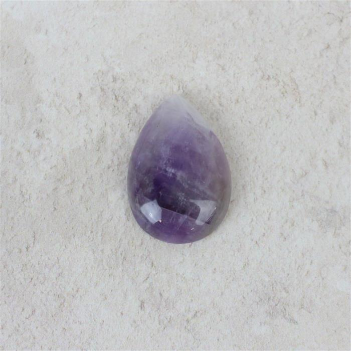 20cts Dogtooth Amethyst Pear Cabochon Approx 20x30mm, 1pk