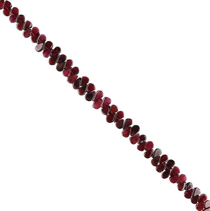 86cts Garnet Graduated Plain Pears Approx 6x4 to 9x5mm, 22cm Strand.