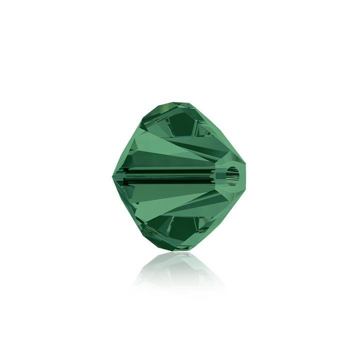 Swarovski Crystal Beads - Pack of 6 Bicones 5328 - 8mm Emerald