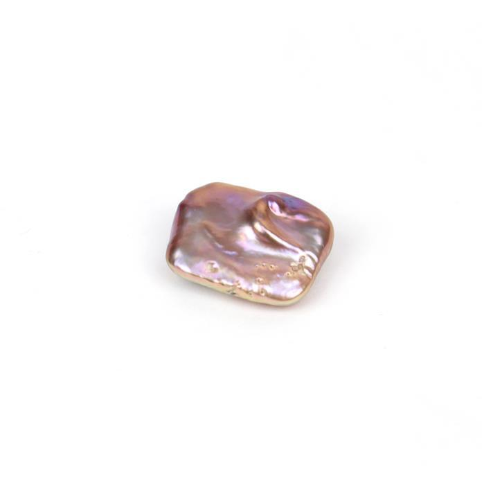 Metallic Freshwater Cultured Square Pearl (Half Drilled) Approx 16x21 -18x22mm, Single Piece