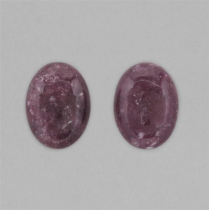 25cts Lepidolite Oval Cabochons Approx 19x14mm.