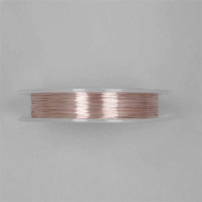 100m Rose Gold Coloured Silver Plated Copper Wire Approx 0.40mm