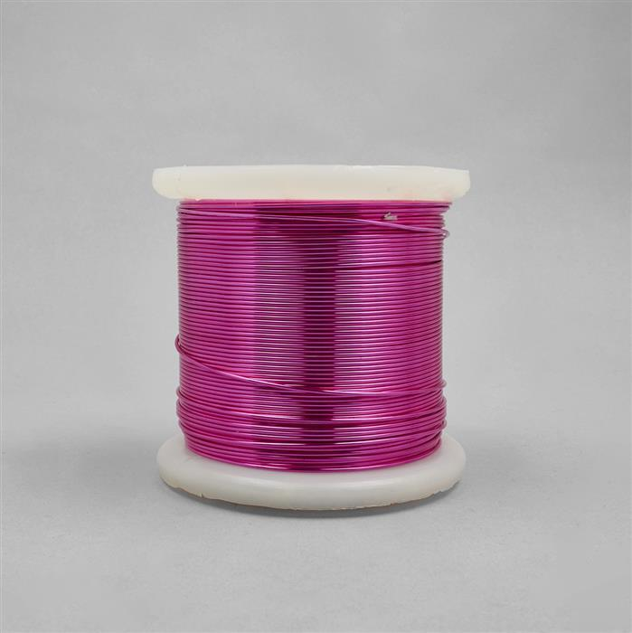 100m Fuchsia Coloured Copper Wire 1.0mm