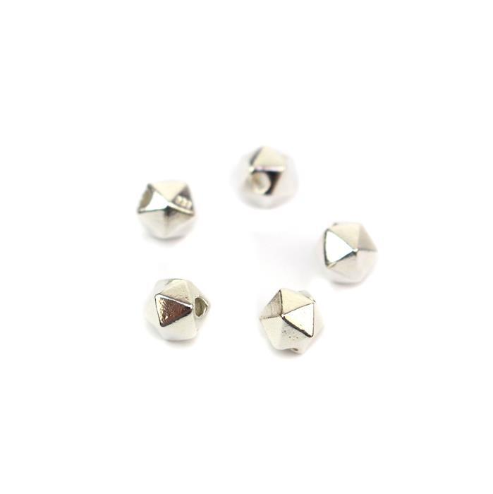 925 Sterling Silver Hexagonal Spacer Beads Approx 5mm 5pcs