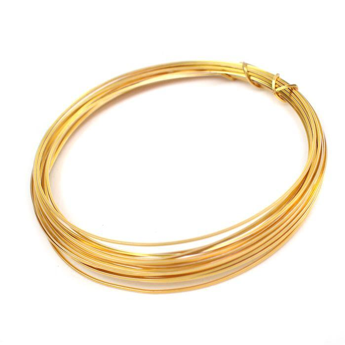 3m Gold Coloured Copper Square Wire Approx 0.50mm