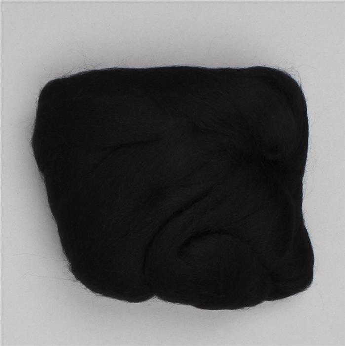 Black Merino Wool Felt 20g Pack