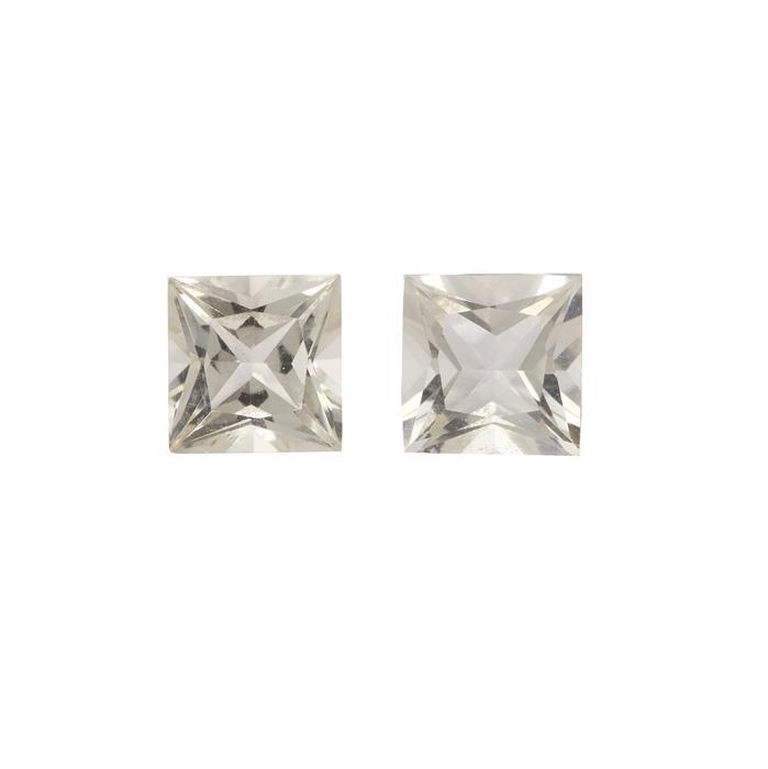 1.80cts Serenite Princess Square Approx 6x6mm 2 pack