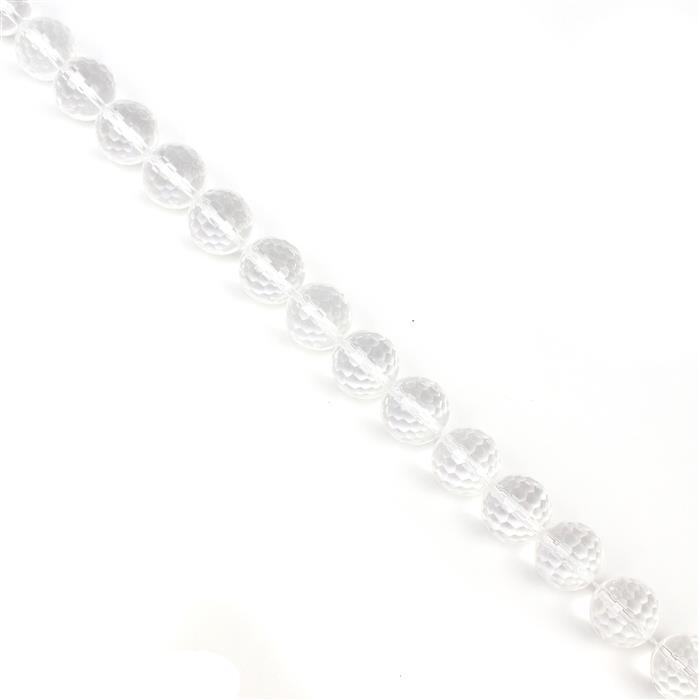 400cts Clear Quartz Faceted Rounds Approx 14mm 38cm strand