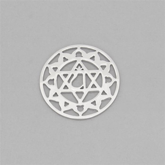 925 Sterling Silver Air Chakra Connector Approx 23mm