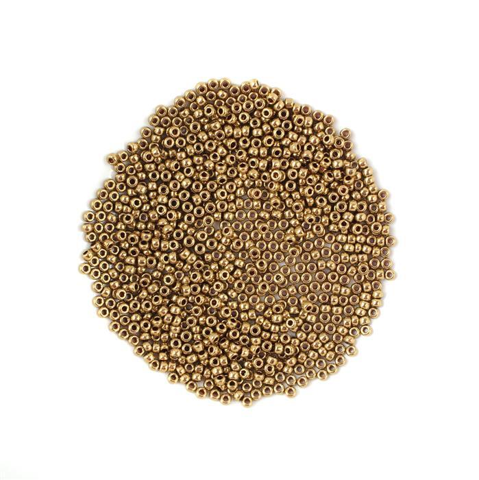 Miyuki Metallic  Light Bronze Seed Beads 8/0 (22GM/TB)