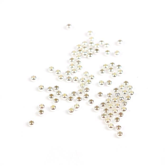 925 Sterling Silver Round Spacer Beads Approx 2mm (100pcs)
