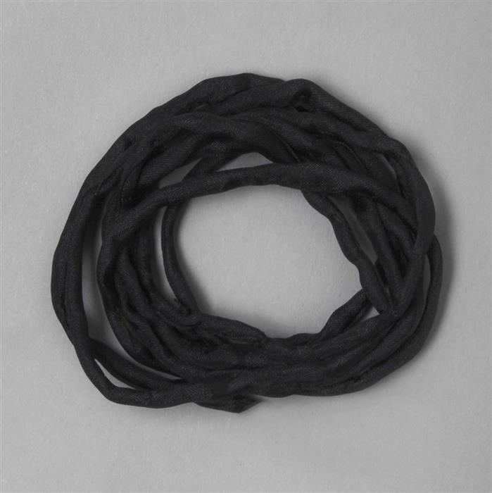 1m Black Silk String Approx 2mm