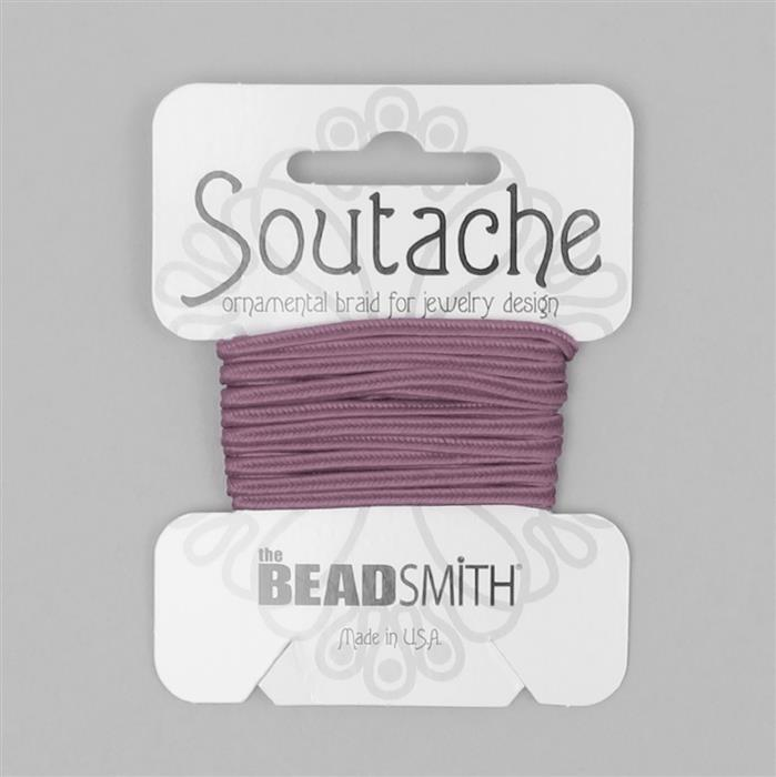 Mauve Soutache Cord 3yards 3mm