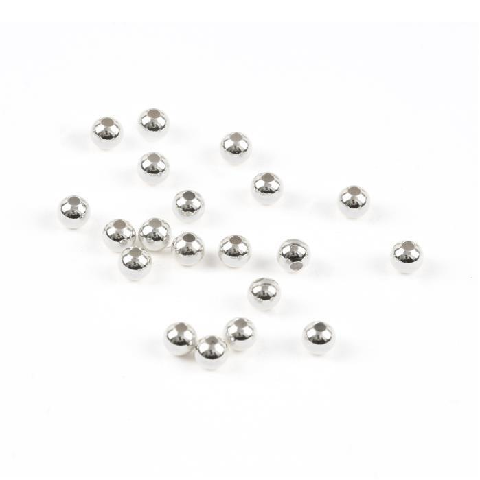 Sterling Silver Spacer Beads - 3mm (20pcs/pk)