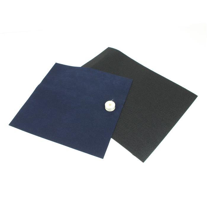 Bead Embroidery Bundle INC Navy Ultrasuede, Large Black Beading Foundation & Nymo Thread