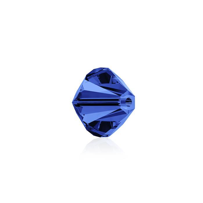 Swarovski Crystal Beads - Pack of 24 Bicone 5328 - 6mm Capri Blue