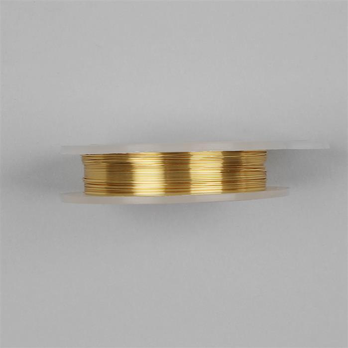 Gold Coloured Silver Plated Copper Wire - 0.2mm (25m)