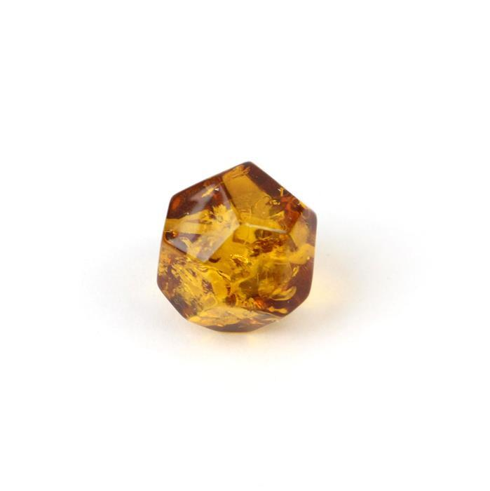 Baltic Cognac Amber Geometry Bead Approx 18mm (1pc)
