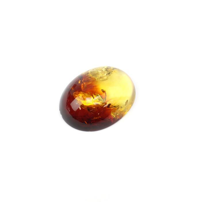 Baltic Multi-Colour Amber Large Oval Cabochon Approx 37x30mm