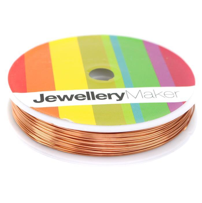 50m Rose Gold Coloured Copper Wire Approx 0.6mm