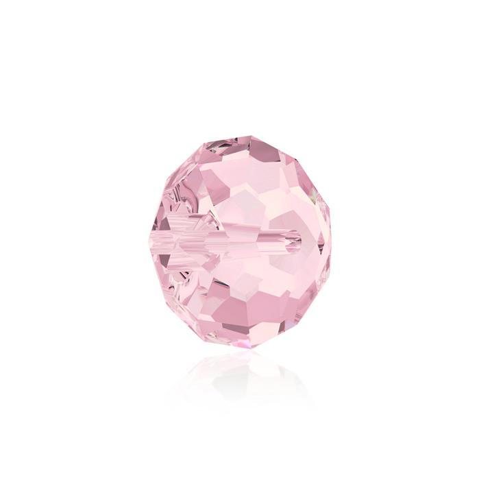 Swarovski Crystal Beads - Pack of 6 Briolette 5040 - 8mm Light Rose