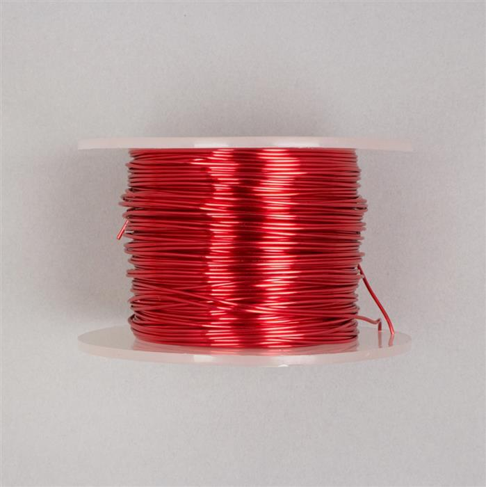 50m Red Coloured Copper Wire 1.0mm