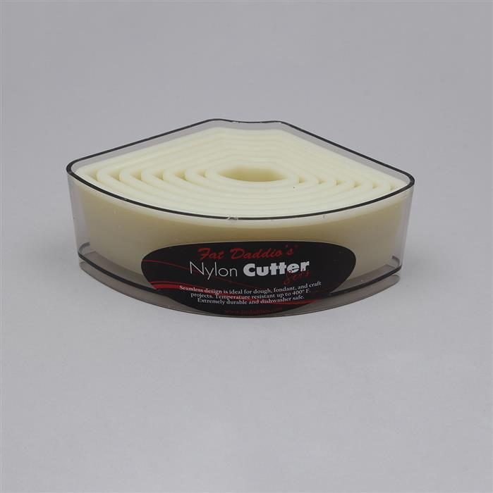 Fan-Shaped Nylon Cutter 7pc Box Set Approx From 26x10 to 122x71mm