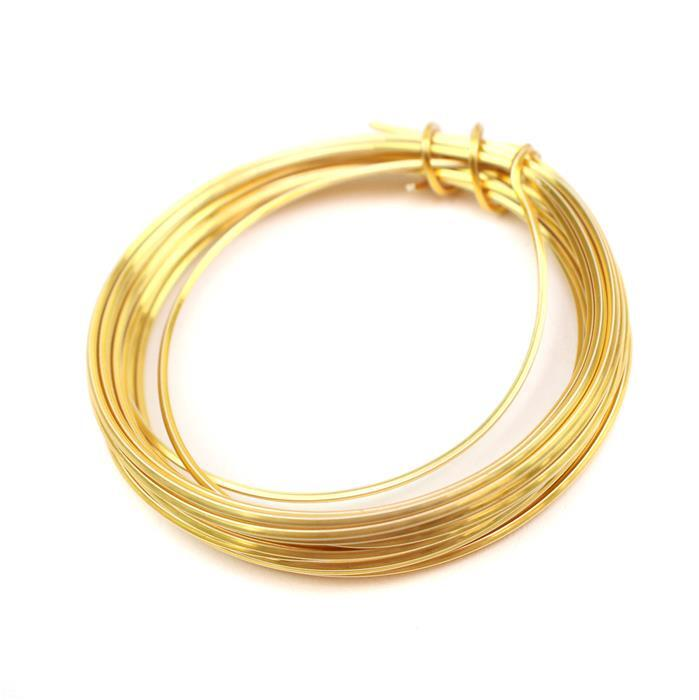 Gold Coloured Copper Square Wire - 1mm (3m)