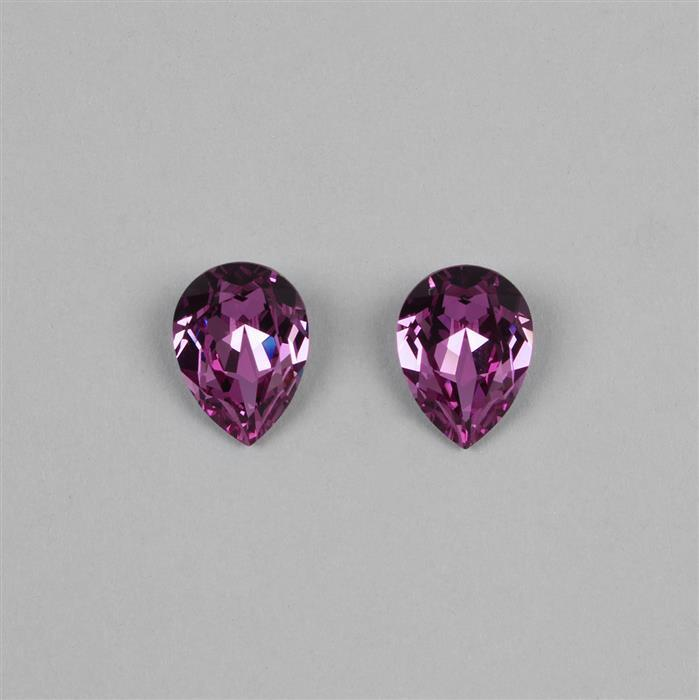 Amethyst Swarovski Chunky Pear Fancy Stones 14x10mm 4320 2pk