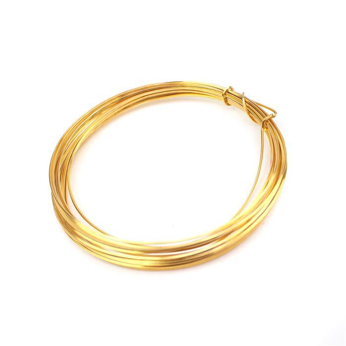 Gold Coloured Copper Square Wire - 0.5mm (3m)