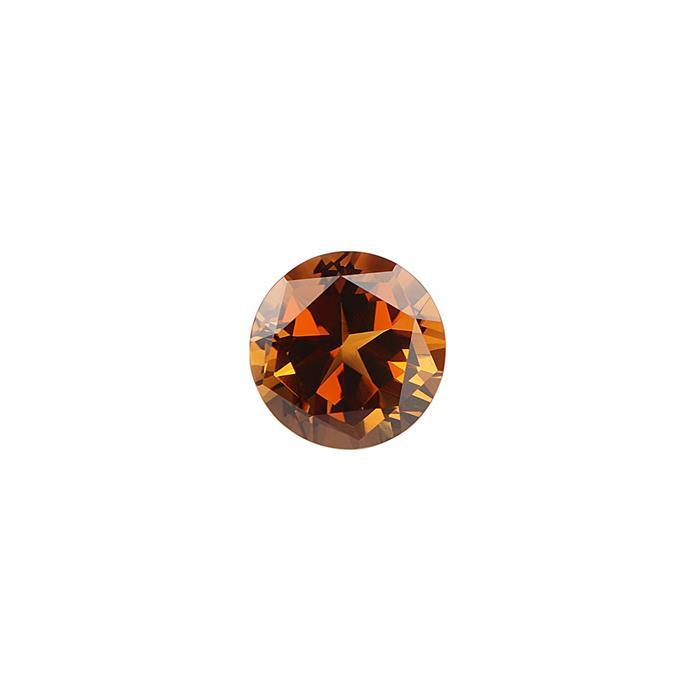 6cts Cognac Quartz Lone Star Cut Round 12mm.