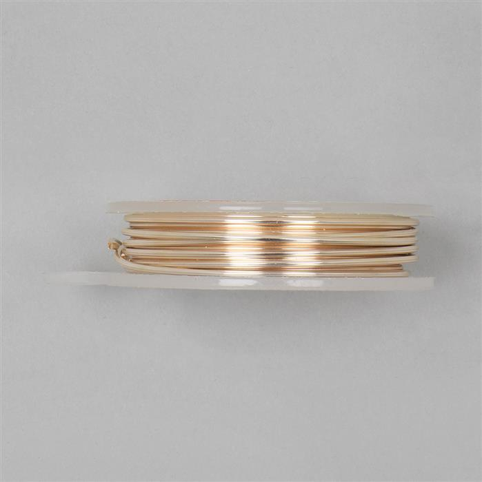 3m Silver Plated Gold Colour Hexagonal Copper Wire 1.50mm