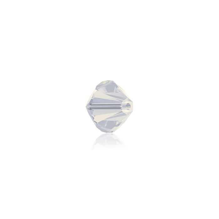 Swarovski Crystal Beads - Pack of 24 Bicones 5328 - 4mm White Opal