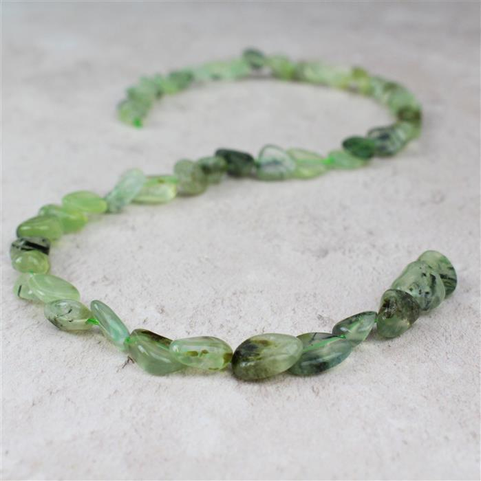 135cts Prehnite Nuggets Approx 8x9 to 13x9mm, 38cm strand