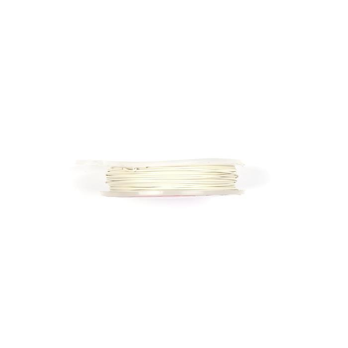 10m Silver Plated White Pastel Copper Wire 0.8mm