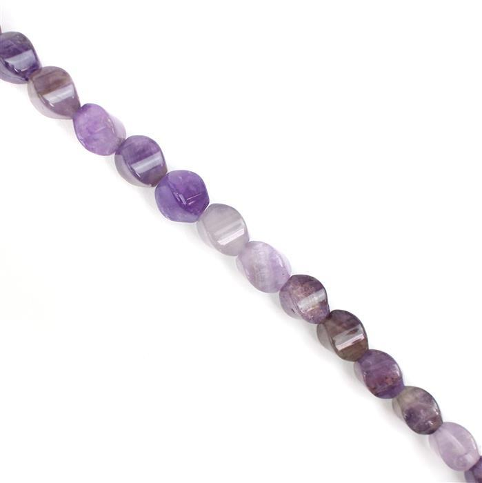 190cts Amethyst Swirl Drums Approx 10x8mm, 38cm Strand
