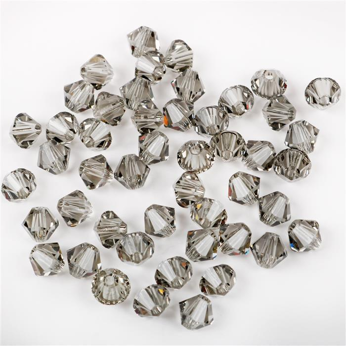 Swarovski Black Diamond Bicones 5328 4mm - 48pk