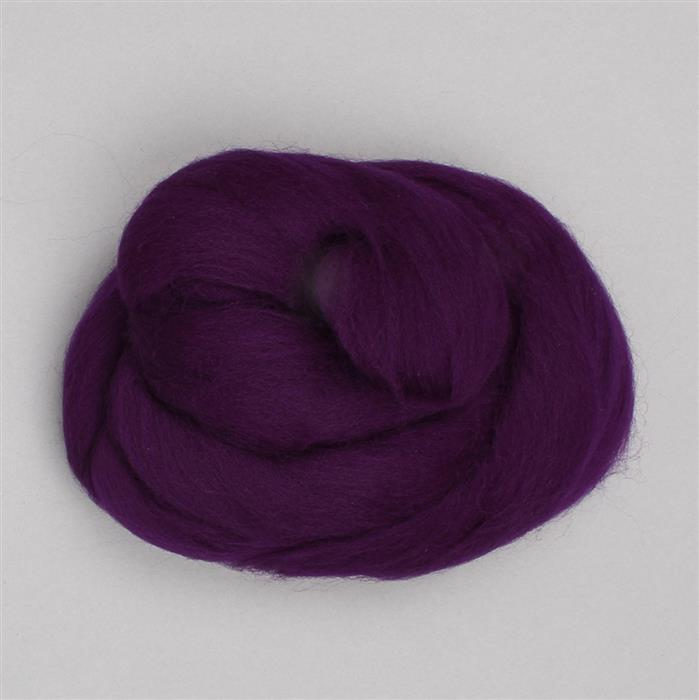 Pure Purple Merino Wool Felt 20g