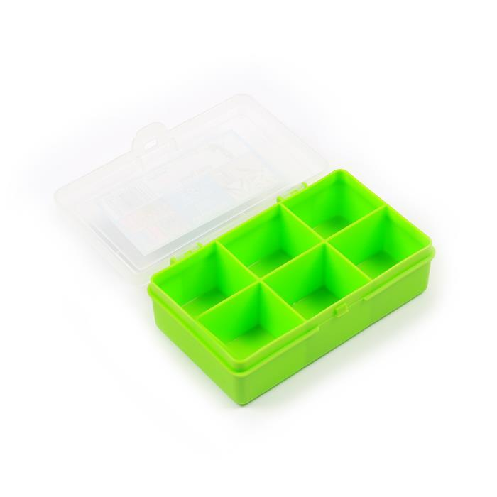 Lime Organiser Box with 6 Divisions 14.5x9.5x4cm