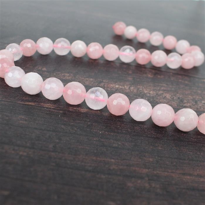 360cts Rose Quartz Faceted Rounds Approx 12mm 38cm strand