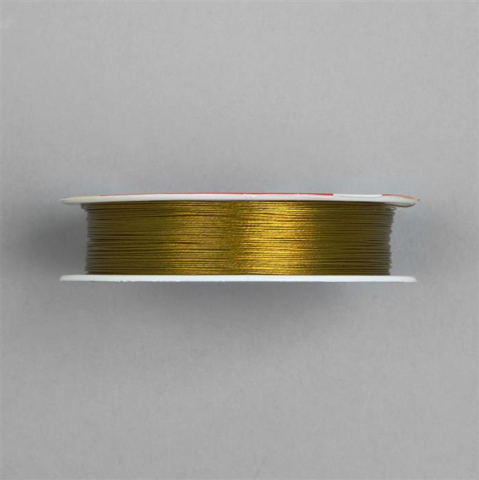50m Dark Gold Colour Stainless Steel Beading Thread 0.3mm