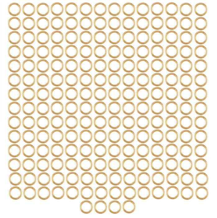 Champagne Gold Colour Plated Copper Open Jump Rings ID Approx 5mm. (Approx 200pcs)