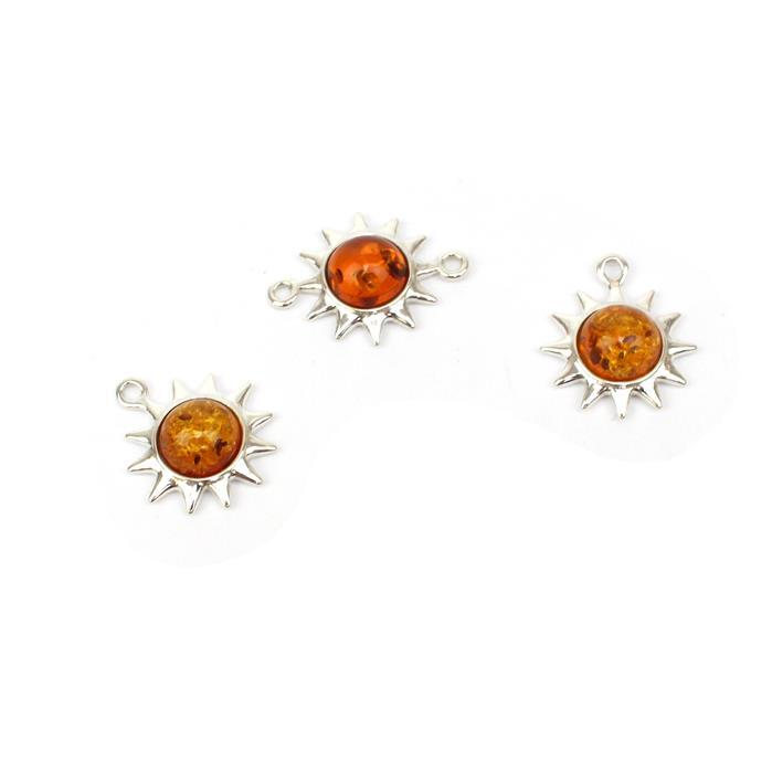 You Are My Sunshine! Inc; 2 x Baltic Cognac Amber Sun Charms & 1 x Connector!