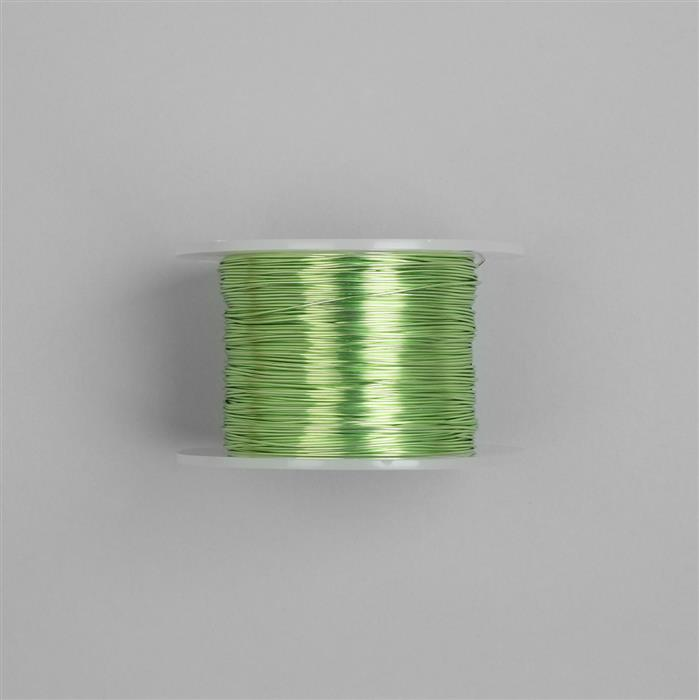 100m Chartreuse Coloured Copper Wire 0.8mm